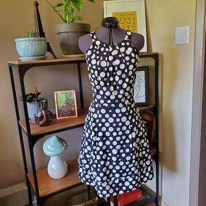Eliza J Polka Dot Halter Dress